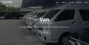 Van for rent with driver car rent wiht driver minibus tour airpoti to huahin